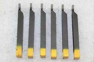 6x HM - Stechdrehmeißel Drehmeißel - WIDIA - 16x10 mm - 4 mm - rechts - M10  NEU