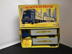 T402-MATCHBOX MAJOR PACK No9A INTERSTATE DOUBLE FREIGHTER AND ORIGINAL BOX