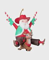 Jolly Old Buckaroo ~ Santa Cowboy 2020 Hallmark Keepsake Christmas Ornament NIB