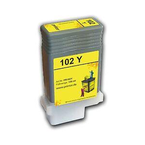 PFI-102 Y 130ml Tintenpatrone hochwertig aufgearbeitet