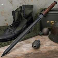 "28"" Marine Usmc Tactical Combat Battle Military Sword Knife Machete w Sheath"