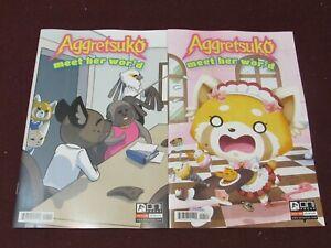 Aggretsuko Meet her World #1 Lot of 2 (Standard & Variant)