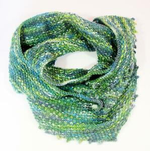 Hand Knitted Wrap Scarf - Green