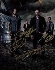 PREPRINT * Supernatural quad cast signed 8x10 autograph photo SPN TV show stars