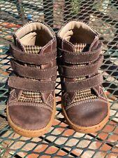 Livie and Luca Jamie Boots Toddler 7 GUC Brown Herringbone