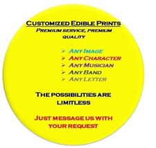 EDIBLE CUSTOMISED PRINTING, PHOTO, CAKE TOPPER, WAFER RICE PAPER, YOUR OWN IMAGE