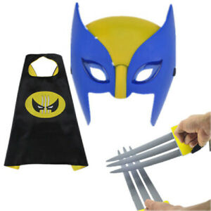 Wolverine Cosplay Party Toy Kids Gift Mask The Avenger Claw Super Hero Marvel