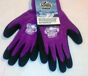 Red Steer Women's Purple Chilly Grips Gloves Work Hunting Fishing S/M/L