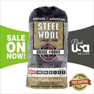 Steel Wool 12 Pad Super Fine Grade #0000 Rhodes American Final Finish Polish