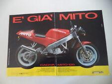 advertising Pubblicità 1990 MOTO CAGIVA MITO 125 SEVEN SPEED