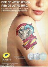PUBLICITE ADVERTISING 106  2012  La Poste  j'aime l'Euro de PACA monnaie Paris