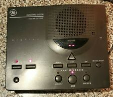 WORKS! Vintage General Electric Digital Answering Machine,Missing Phone Cord
