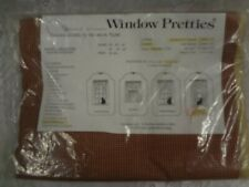 """Country tan maroon check plaid cotton sectional arch valance 80 x 17 """" USA New"""