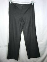 Ann Taylor Size 4 Lindsay Dress Pants Gray Lined Wide Leg PERFECT Women's