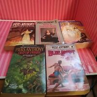 PIERS ANTHONY Lot of 5 Paperback Books Science Fiction/Fantasy-Free Shipping
