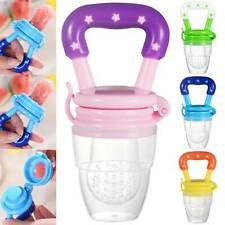 Baby Feeding Pacifier Fresh Food Fruit Feeder Dummy Soother Weaning Nipple 0-18M
