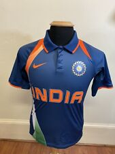 Nike Vintage India Cricket Fit Dry Blue Jersey Mens XS Extra Small