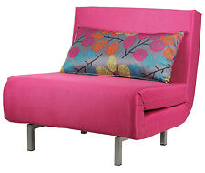 3in1 Convertible Bed, Chair, and Chase Lounge. Comparable to Twin XL Bed, Pink