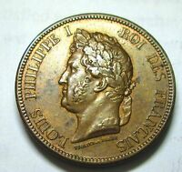 RARE 1839 FRENCH COLONIES 10 CENT LOUISE PHILIPPE  UNC  ?CONDITION AE-548