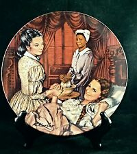 Knowles Gone with the Wind Hand Painted Plate Melanie Gives Birth  C310 USA Sell