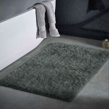 Non Slip Bath Mat Water Absorbent Toilet Pedestal Soft Thick Shaggy Bathroom Rug