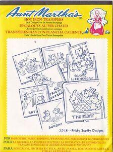 Aunt Martha's Hot Iron Transfers, Frisky Scotty Designs #3548