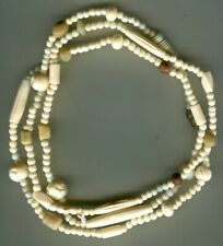 Indian made bone and glass beads long strand