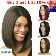 Womens Short Straight Wigs Synthetic Cosplay Bobo Heat Resist Party Dress Full