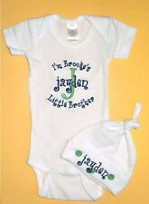 Personalized Little Baby Brother Sister CREEPER One Piece Romper T Shirt HAT SET