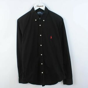 Men's Polo Ralph Lauren Slim Fit Long Sleeve Shirt In Black Size S Small