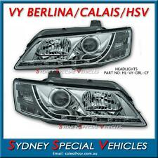 VY DRL HEADLIGHTS FOR HSV BERLINA CALAIS GTS MALOO  - CHROME PROJECTOR LED