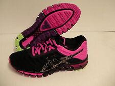 Asics women's running shoes gel quantum 180 black pink size 8.5 us