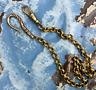 """Repro Victorian Pocket Watch Chain BRONZE 12"""" Fancy Hook Swivel clip Heavy"""
