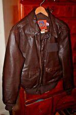 Modern USAF Cooper A-2 Flyers Pilots Brown Goatskin jacket 42-R Large WWII Pilot