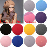 Classic Womens Men Wool Beret Winter Warm Hat French Style Beanie Casual Caps US