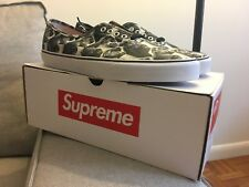 2013 VANS x SUPREME x BRUCE LEE  AUTHENTIC PRO Black White Cream Size 11.5
