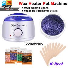 Warmer Beans Wax Machine Heater Pot Kit + Hair Removal Beans 100g SPA 220v 110v