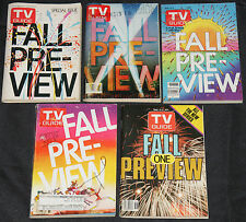 1970s-1990s T.V. GUIDE FALL PREVIEW 20pc Count Magazine Lot Grade FN-NM TV/Movie