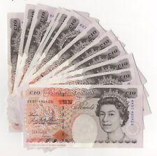 Kentfield Charles Dickens Ten Pound Banknote B369 £10 Top Right Unc Last Prefix