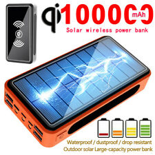 Solar Power Bank 100000mah Wireless 4 Usb Portable External Battery Bank