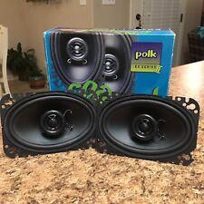 "New listing Original Polk Audio Ex 462a 4X6"" Coaxial Car Stereo Speakers Matthew Polk Vgc"