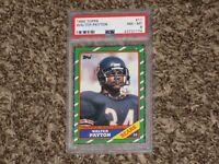 Walter Payton 1986 Topps NFL Football Card # 11 Hall of Fame HOF Bears PSA 8