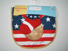 NEW Future Olympian Baby Bib & Bootie Socks Set Olympic Gold Medal/Patriotic/USA