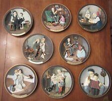 Set Of 8 Norman Rockwell 3D Centennial Collector Plates~Ship Builder~Music Maker
