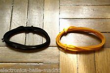2 Mt GUITAR ELECTRIC BROWN & YELLOW 22 AWG VINTAGE CLOTH COVERED WIRE