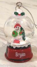 Personalized Snow Globe Ornament - Bryan - FREE Shipping