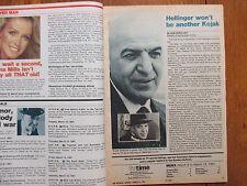 March 8, 1981 Philadelphia Bulletin TV Time Magazi(TELLY SAVALAS/HELLINGER'S LAW