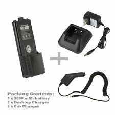 BAOFENG BL-5L 3800mAh 7.4V Li-Ion Battery + Car charger +Desk Charger
