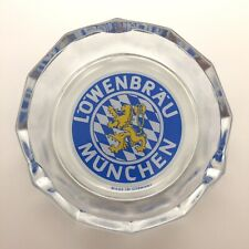 Lowenbrau Munchen 4� Vintage Glass Ashtray ~ Made in Germany ~ Excellent !
