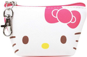 JAPAN Sanrio Hello Kitty Cat Pink MakeUp Leather Key Coin Pouch Bag Purse Case